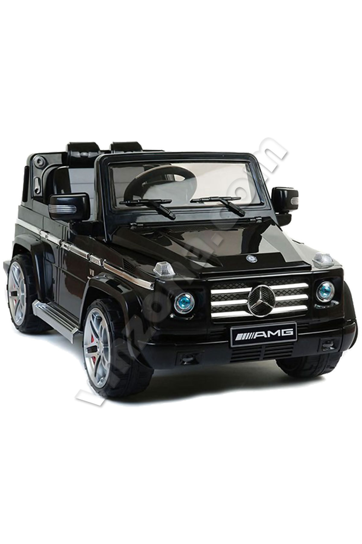 Kids battery jeep mercedes benz g55 amg with steering for Jeep mercedes benz