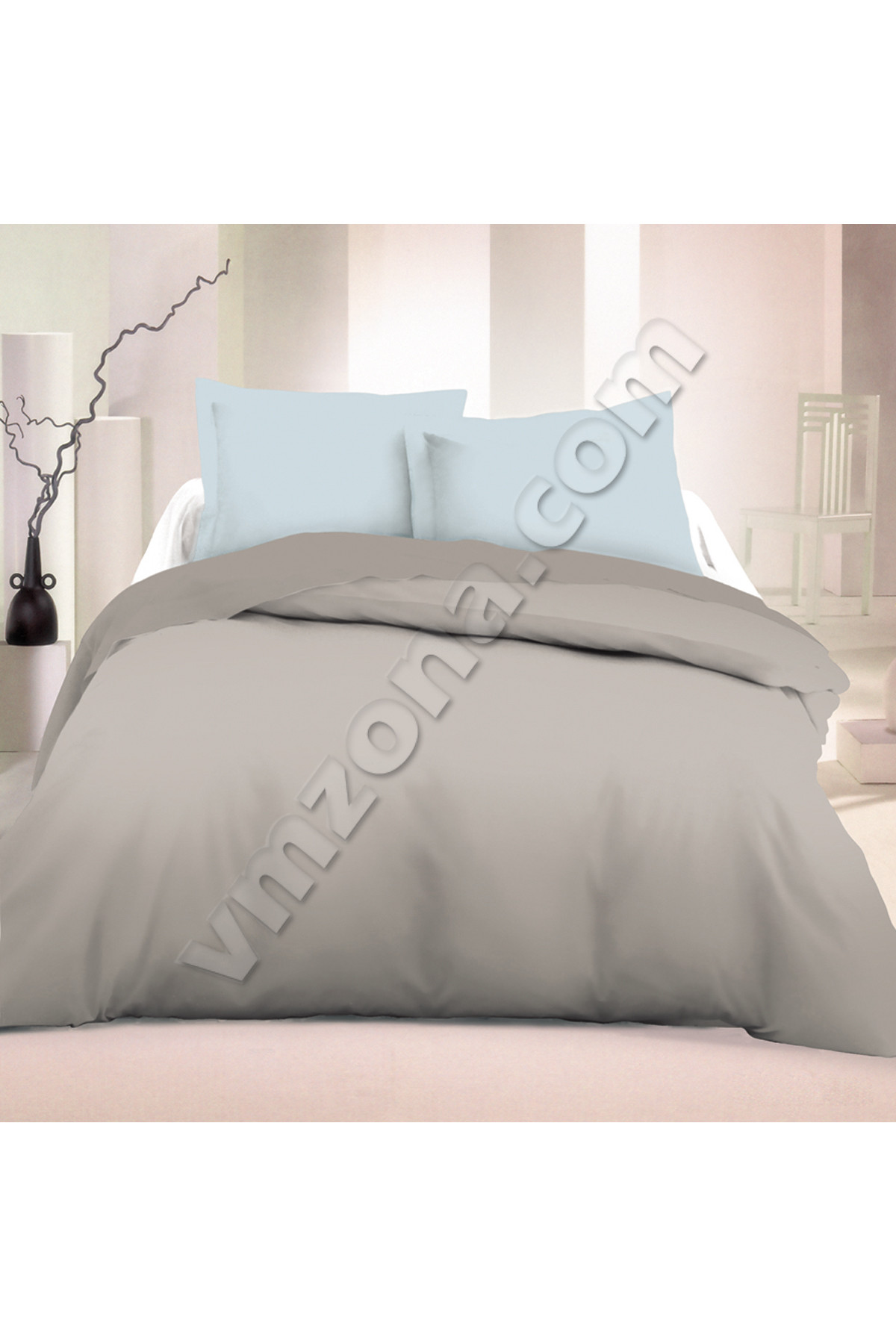 bedroom set blue gray