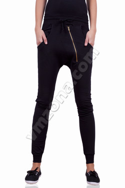 Womens sports pants with zip and links