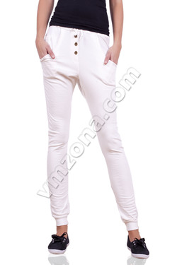 Womens sports pants with buttons