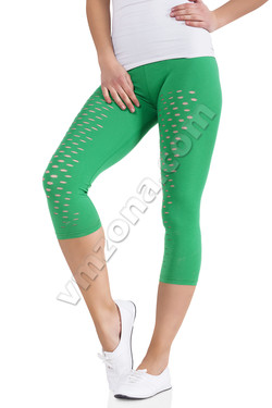 Ladies leggings with decorative holes