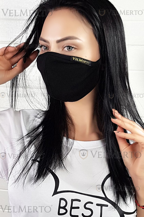 Designer fashion mask with inner pocket designed for filter or gauze.It is made of high quality organic cotton.