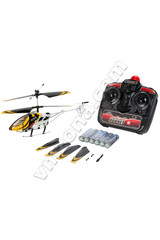 Popup product on rc helicopter fly